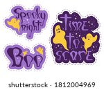 funny halloween stickers with...   Shutterstock .eps vector #1812004969