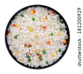 rice with vegetable in black... | Shutterstock . vector #181200929