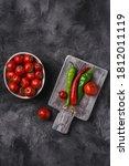Fresh Ripe Tomatoes In Bowl...