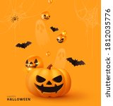 happy halloween. festive... | Shutterstock .eps vector #1812035776