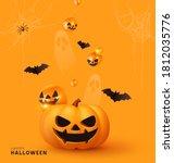 happy halloween. festive... | Shutterstock .eps vector #1812035776