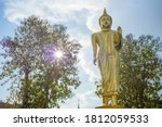 The Golden Buddha With Sunset...