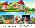 six different scene of fantasy...   Shutterstock .eps vector #1812061510