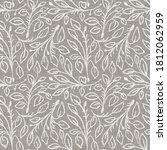 natural gray french woven linen ... | Shutterstock . vector #1812062959