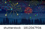 forest with celebration... | Shutterstock .eps vector #1812067936