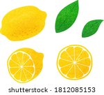 lemon illustration set material ... | Shutterstock .eps vector #1812085153