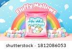 3d illustration ad of fluffy... | Shutterstock .eps vector #1812086053