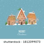 greeting christmas card with... | Shutterstock .eps vector #1812099073