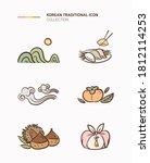 korean traditional icons... | Shutterstock .eps vector #1812114253