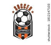 soccer logo design template.... | Shutterstock .eps vector #1812147103