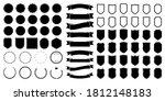 set of black round  triangular... | Shutterstock .eps vector #1812148183