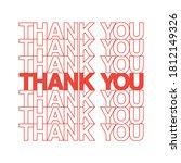 thank you text  thank you... | Shutterstock .eps vector #1812149326