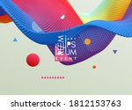abstract background with... | Shutterstock .eps vector #1812153763