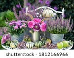 Garden Decoration With Bouquet...