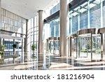 empty hall in the modern office ...   Shutterstock . vector #181216904