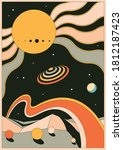 psychedelic space background ...   Shutterstock .eps vector #1812187423