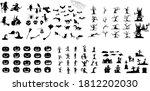 collection of halloween... | Shutterstock .eps vector #1812202030