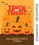 flat vector of halloween poster ... | Shutterstock .eps vector #1812210526