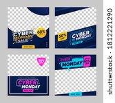 cyber monday sale banner social ... | Shutterstock .eps vector #1812221290