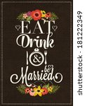 wedding invitation vintage... | Shutterstock .eps vector #181222349