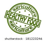 stamp with text healthy food...   Shutterstock .eps vector #181223246