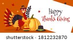 happy thanksgiving header or... | Shutterstock .eps vector #1812232870