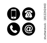 contact icon set vector.... | Shutterstock .eps vector #1812242443