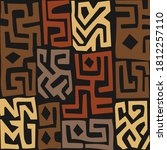 abstract african art style...   Shutterstock .eps vector #1812257110