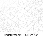 line abstract geometric rumpled ... | Shutterstock .eps vector #181225754