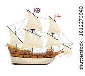 the mayflower ship. pilgrim... | Shutterstock .eps vector #1812273040