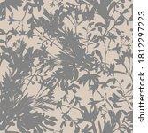 wild flowers seamless pattern.... | Shutterstock .eps vector #1812297223
