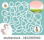 maze game for kindergarten... | Shutterstock .eps vector #1812305560