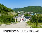 view of the nebug village ... | Shutterstock . vector #1812308260