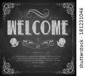 illustration of welcome written ... | Shutterstock .eps vector #181231046