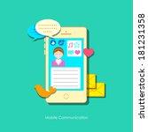illustration of social media... | Shutterstock .eps vector #181231358