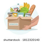 food and grocery donation... | Shutterstock .eps vector #1812320140