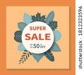square vector banner design for ... | Shutterstock .eps vector #1812323596