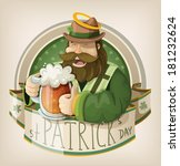 st patrick day card   Shutterstock .eps vector #181232624