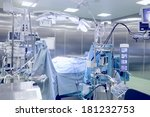 operating room with patient.  | Shutterstock . vector #181232753