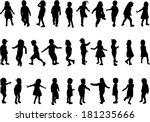 collection of silhouettes of... | Shutterstock .eps vector #181235666