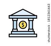 bank  dollar  money icon....