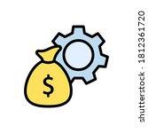 sack  money  gear icon. simple...