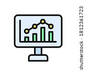 desktop  chart icon. simple...