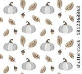 Autumn Seamless Vector Pattern...