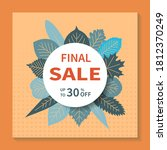 final sales  square vector... | Shutterstock .eps vector #1812370249