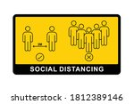 social distance icon thin line... | Shutterstock .eps vector #1812389146