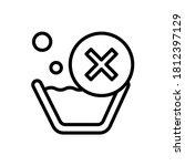 no wash icon. simple line ...
