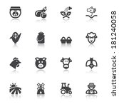 set of black flat icons with...   Shutterstock .eps vector #181240058
