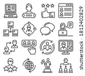 social media and network icons... | Shutterstock .eps vector #1812402829