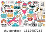 very large set or composition... | Shutterstock .eps vector #1812407263